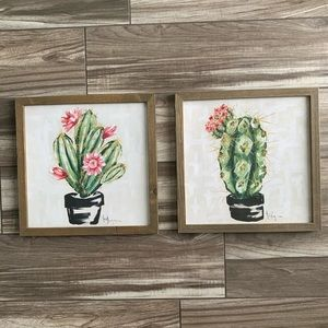 Other - 🌿3/$15 bundle of 2 cactus prints